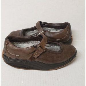 MBT Kaya Brown Leather Mary Jane Walking Shoes